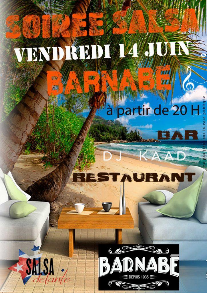 Soirée Salsa au Bar Restaurant La Guinguette Barnabé à Boulazac